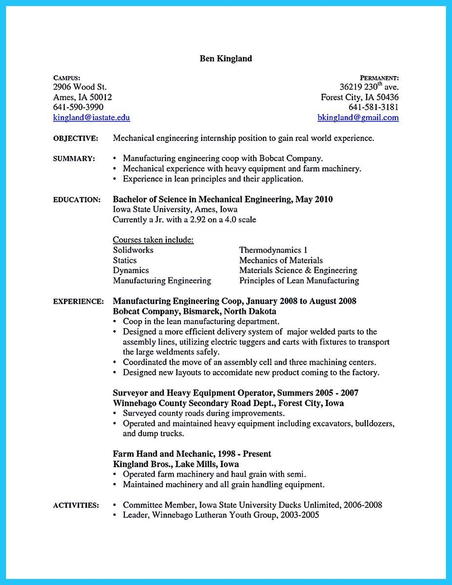 97 Inspirational Auto Mechanic Resume Objective Examples with Gallery