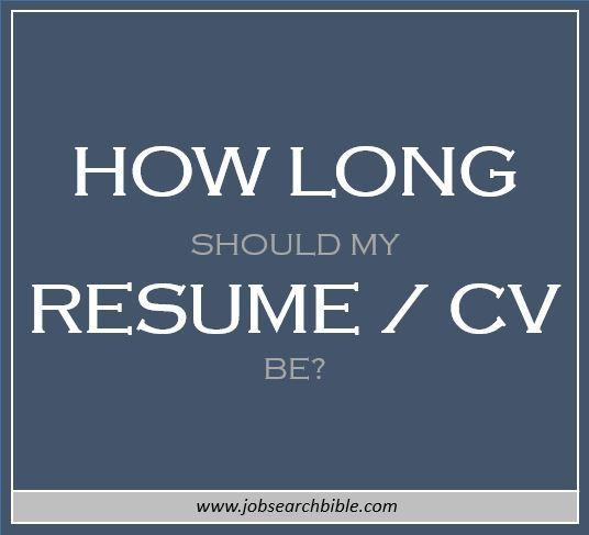 97 Inspirational How Many Pages Should A Cv Be with Graphics