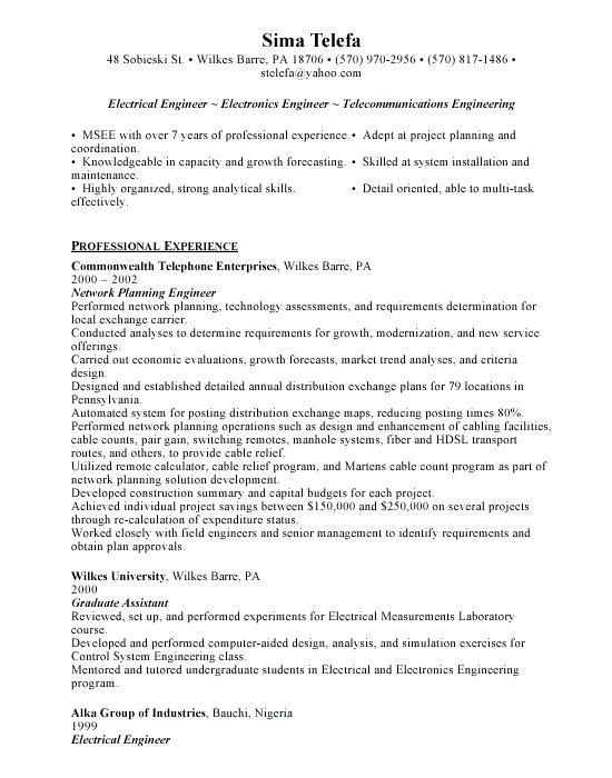 98 Excellent Electrical Engineering Resume Sample For Freshers with Design