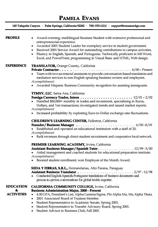 98 Fresh Sample Of A Good Resume Format for Gallery