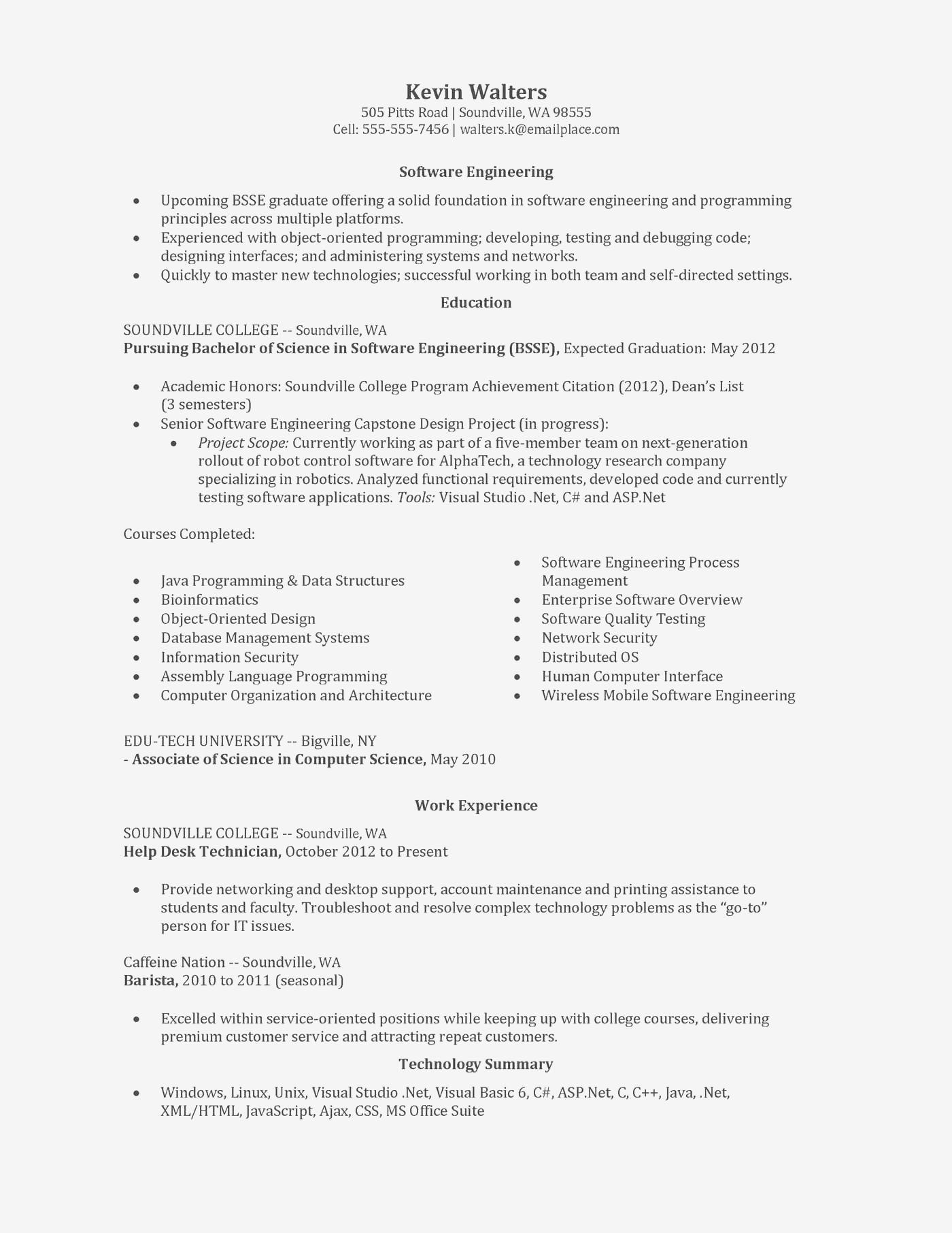 98 Nice Entry Level Software Developer Resume Sample for Images