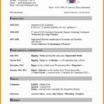 99 Awesome English Cv Template for Pictures