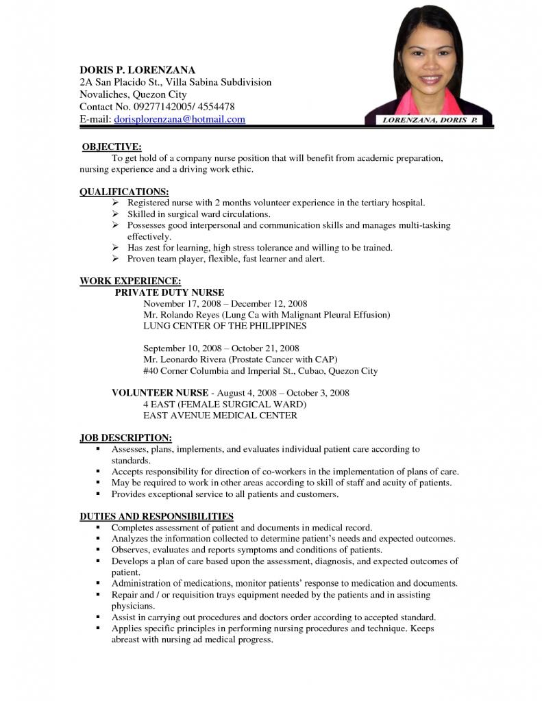 99 Awesome Sample Resume Format for Images