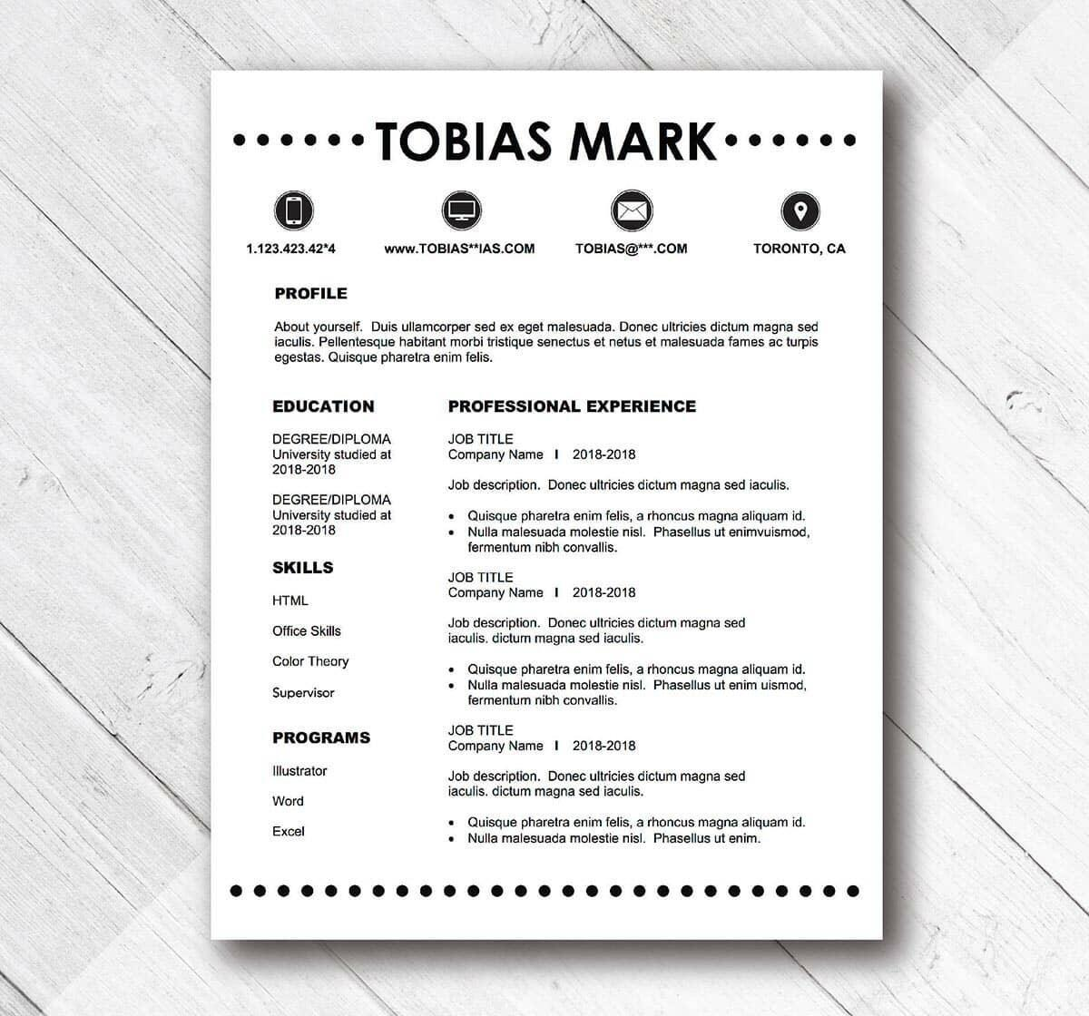 99 Inspirational Easy Resume Examples with Images
