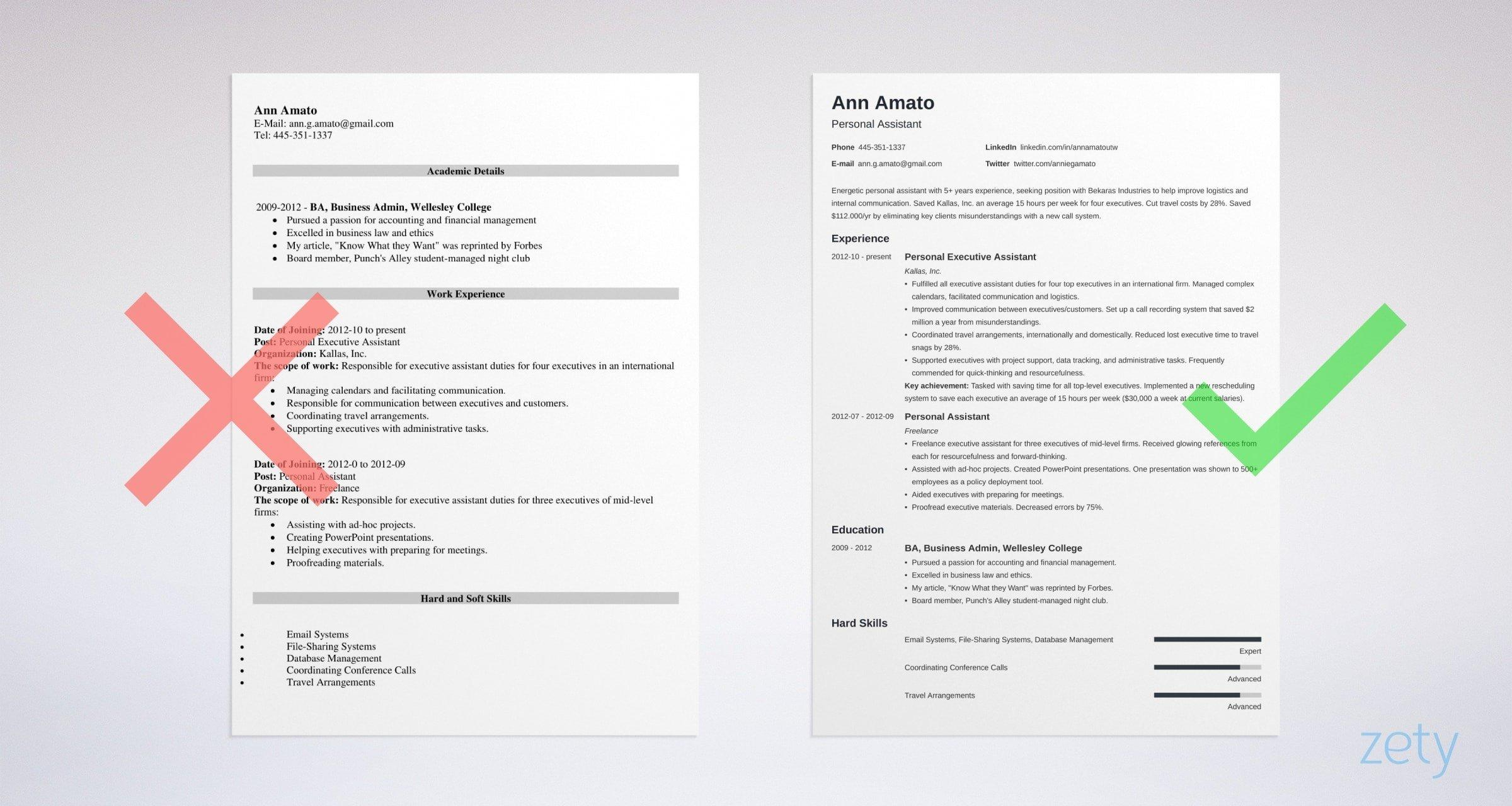 99 Inspirational Sample Resume Format for Images