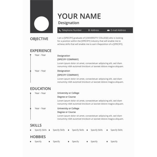 99 New Free Cv Template Download with Graphics