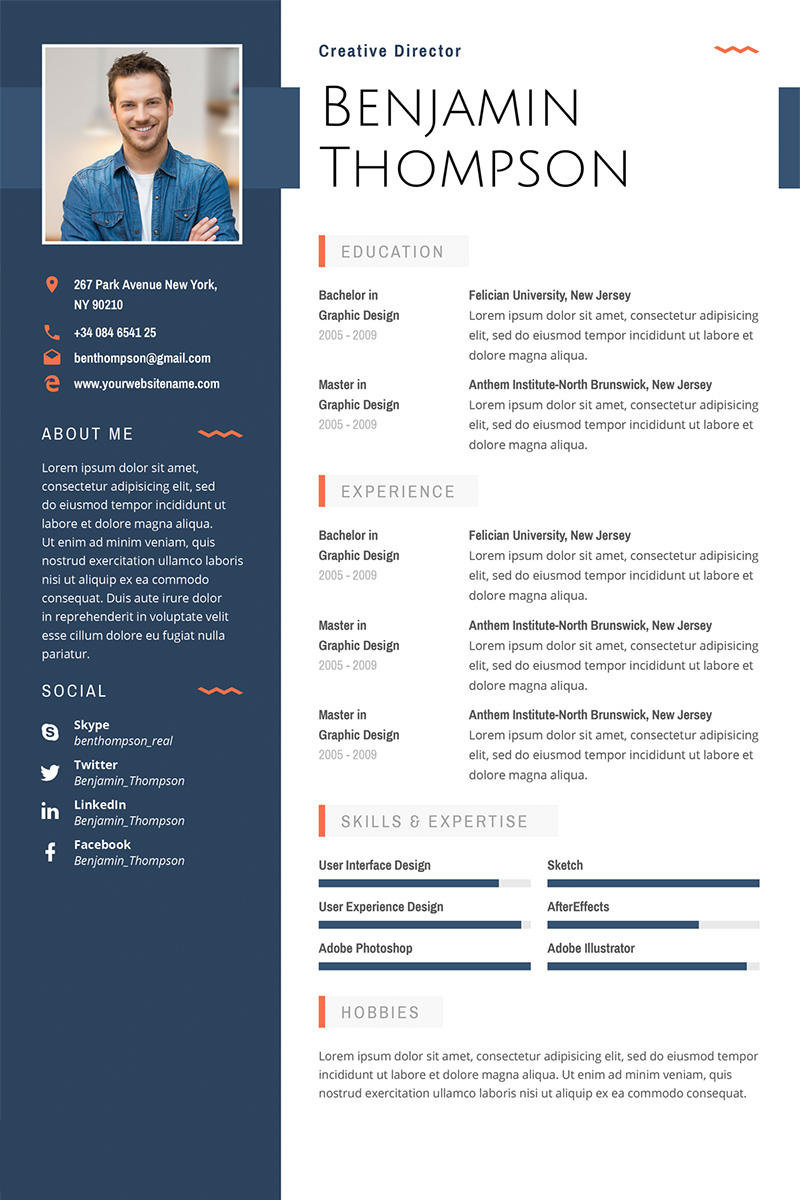 99 Nice Graphic Resume Template with Gallery